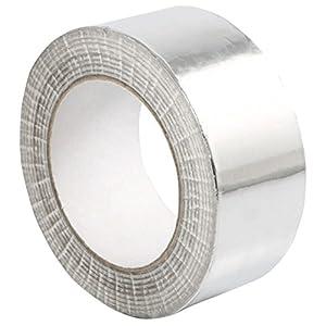 STERR – Cinta de aluminio Cinta de aluminio plateada 50 mm x 50 m