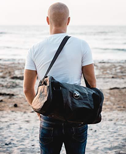 Papero ® Sporttasche aus Kraft- Papier ♻ | Ultra minimalistisch Herren Damen, Robust, Wasserfest ✅ Vegan fair nachhaltig ✅ Urban Style|FSC Zertifiziert | Reisetasche, Weekender - 6