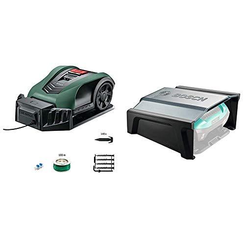 Bosch Mähroboter Indego 350 Connect mit App - Rasenfläche bis zu 350 m² + Garage