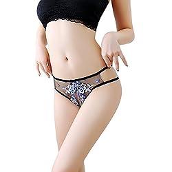 Twippo Bragas Mujer Entrepierna Abierta del Cordón Floral Ropa Interior Atractiva Braguita Cintura Baja 34 Sexo seguro, condones y contenido erótico | Más de condones