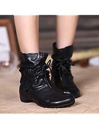 Semana Botines es Cordones Zapatos Y Mujer Última Amazon 5TBZxX5