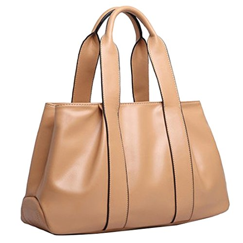 YYW Leather Handbags, Borsa a zainetto donna Khaki