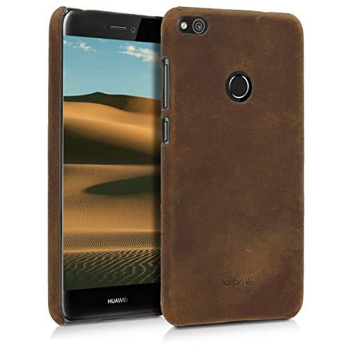 kalibri Huawei P8 Lite (2017) Hülle - Leder Handy Cover Case - Hardcover Schutzhülle für Huawei P8 Lite (2017) -