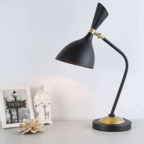 Lampes de table- Nordic creative lampe de table personnalité mode fer bureau lampe salon hall lampe lampadaire (Couleur : NOIR)