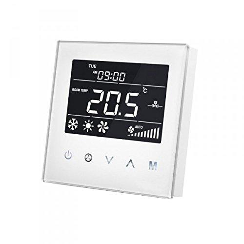 Mco casa mcoemh8-fc4Bobina de tubo de 4ventilador termostato, color blanco