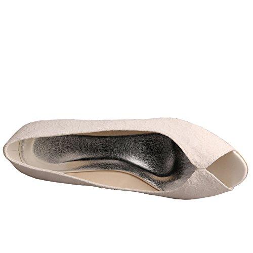 Avorio Toes Peep Wedopus Signore Peep Toes Wedopus Avorio Signore C0U78xqfw