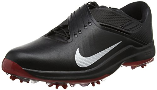 Nike TW 17, Chaussures de Golf Homme, Noir (Black/Metallic Silver/Anthracite/University Red), 43 EU