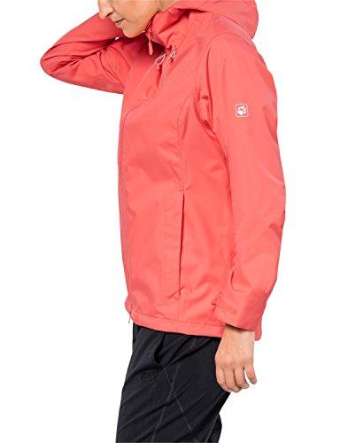 Jack Wolfskin Arroyo Hardshelljacke Damen, Wetterschutz Funktionsjacke für Damen, wasserdichte, winddichte & atmungsaktive Regenjacke, Outdoorjacke mit angenehmer Passform, lachsfarben - 3