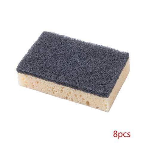 8pcs zwei seitliche Topfreiniger Reinigungsschwamm Wischen Bürste Küche Dish Washing Rag Cloth Werkzeuge Mengonee