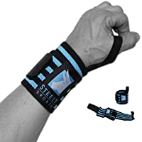 """STEELY SPORTS Handgelenkbandage Bodybuilding - Wrist Wraps 18"""" - Farbe: schwarz/blau // Krafttraining, Gewichtheben... preisvergleich bei billige-tabletten.eu"""