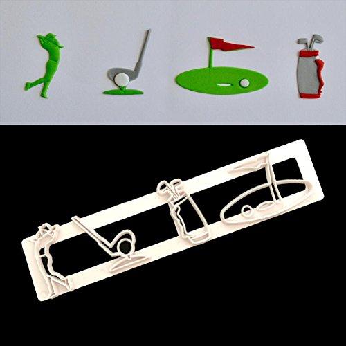 LBOJA Niedlichen Mini Golf Form Kuchen Cup Keks Ausstecher Fondantform DIY Backen Werkzeug - Weiß