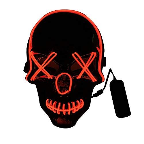 Red Maske Kostüm Skull - YPbanand Erwachsene Tag Weihnachten leuchtende Requisiten Scary Skull Halloween Maske Full Face Cosplay Kostüm