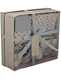 Newborn Baby 7 pcs Gift Set 0 - 3 Months. Available in Blue or Pink (Blue STARS)