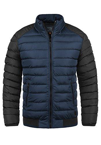 Blend Gallus Herren Winter Jacke Steppjacke Winterjacke gefüttert mit Stehkragen, Größe:M, Farbe:Navy (70230)