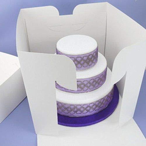 Grande boîte à gâteaux pour gâteaux empilés de 35,6 x 33 cm