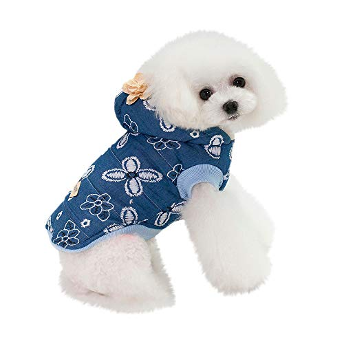 OHQ Haustier Hund Cartoon Fake Straps Printed Jacke mit Kapuze Sweatshirts Cute Puppy Kleidung Weihnachten