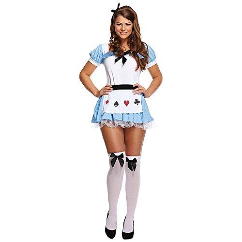 Alice Kostüm (Blau/Weiß) (Alice Im Wunderland Kostüm Blau)