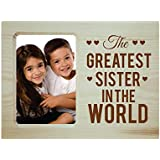 [Sponsored]Yaya Cafe Rakhi Gifts For Sister Photo Frame For Table Greatest Sister In The World Engraved Wooden