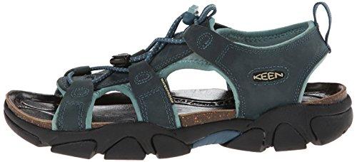 Keen Sarasota Damen Hiking Schuhe Trekking Sandale Outdoor wasserfest Leder, Schuhgröße:36;Farbe:blau -