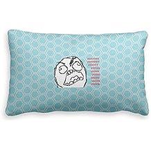 Bonny sui Pillow case F U Rage Face internet Meme federa taglie