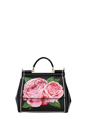 DolceGabbana-Womens-Top-Handle-Bag-black-black