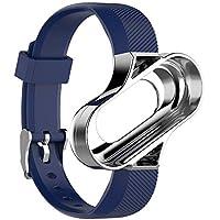 Cooljun Compatible avec Xiaomi Mi Band 3,Bracelet de Poignet Sport Ventilate de Remplacement avec Cadre en métal