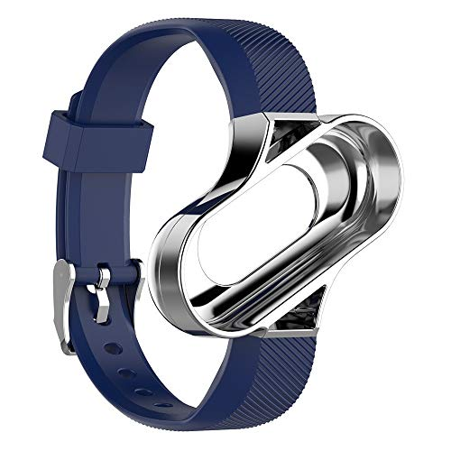 Webla millet armband armreif metallrahmen sea blue silber rahmen ersatz lüften sport metallrahmen armreif für xiaomi miband3 (c) -