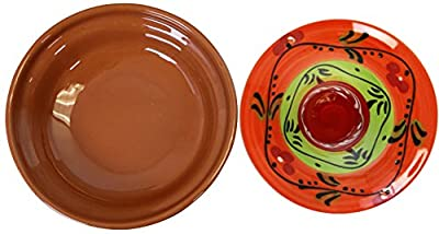 Reston Lloyd Eurita Terra Cotta Mini Tagine, 91704, 1/2 Cup Willow/Side Dish, Valencia Pattern, Set of 2 by Reston Lloyd by Reston Lloyd