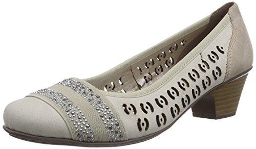 Rieker - 42376, Scarpe col tacco Donna Beige (Beige (marble/beige / 60))