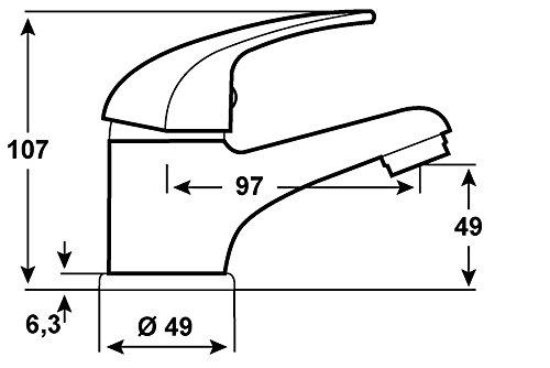 CON:P PICCOLO Waschtisch-Einhebelmischer, chrom, SA840 -