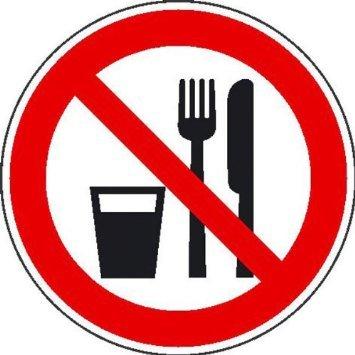 Preisvergleich Produktbild Essen und Trinken verbotenVerbotsschild,  selbstkl. Folie,  Größe 10cm