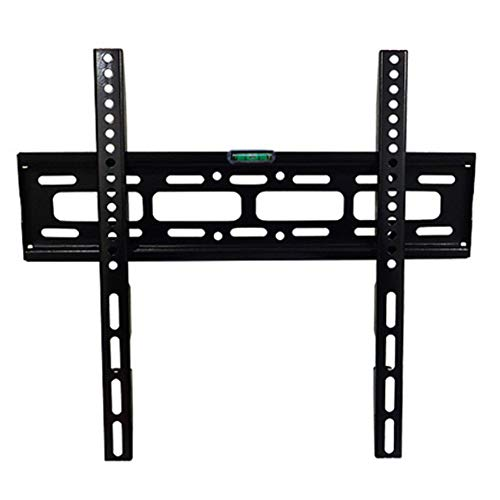 26-65 Zoll Fixed TV Wall Mount Bracket Universal Support with Ultra Slim Design for LED LCD 3D Curved Plasma Flat Screen Televisions Super Strong 50kg Weight Capacity Contains Level Device Black Universal Flat-tv