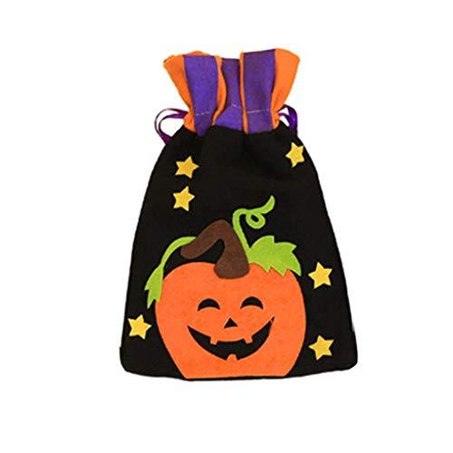 ff Tuchdrawstring Beuter Trick-or-treaters Ornament Taschen für Halloween Festival ()
