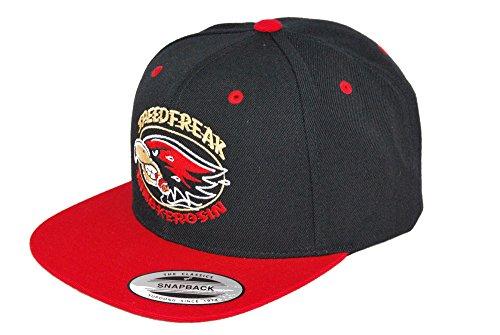 2-tone Baseball Cap (King Kerosin Speedfreak The Classics Original Snapback Baseball Caps/2-Tone Cap (Schwarz/Rot))