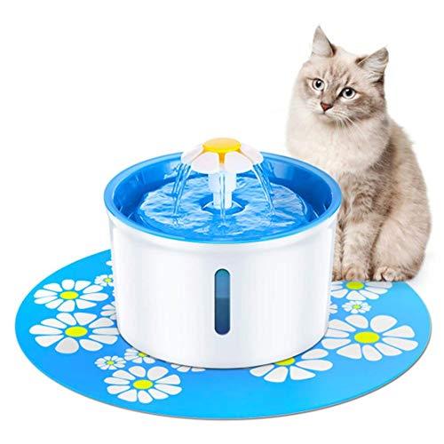 ZYliunian Wasserspender für Heimtiere, 1,6-Liter-Wasserspender für Heimtiere mit 3 Wasserauslassmodi, Filter mit sichtbarem Fenster -