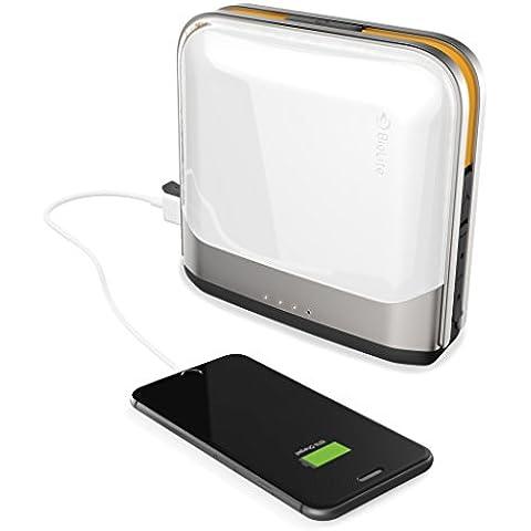 Biolite Unisex Base Bluetooth Lanterna e di hub, piccolo, argento