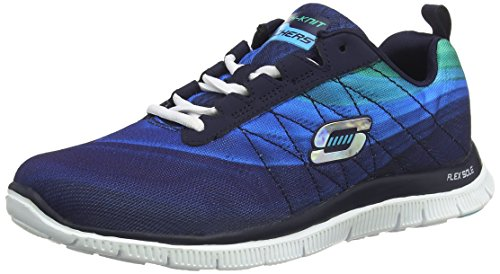 Skechers - Flex Appeal Pretty Please, Sneakers da donna, Blu (NVBL), 36