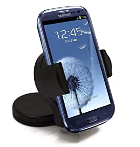 Premium UniSuction 360 In-Car Windscreen Suction Phone Holder Mount - Solid Robust Design / Works with Case for Samsung Galaxy Nexus / S / S2 / S3 /S3 Mini / S4 / S4 Mini / Ace / Ace 2 / Ace 3 / Ace Plus