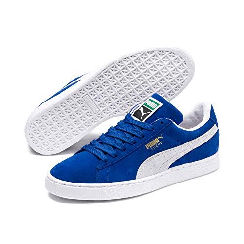 Puma suede classic+, sneaker unisex – adulto, blu (olympian blue-white 64), 42 eu