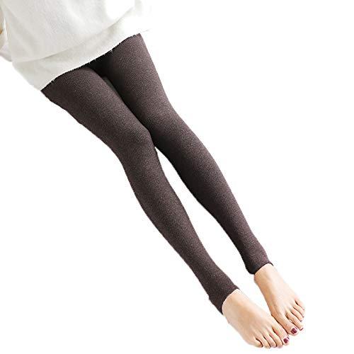 SJZC Leggins Donna Leggings Termici Invernali Pantaloni Fitness Modellante Legins Legghins,One-Size