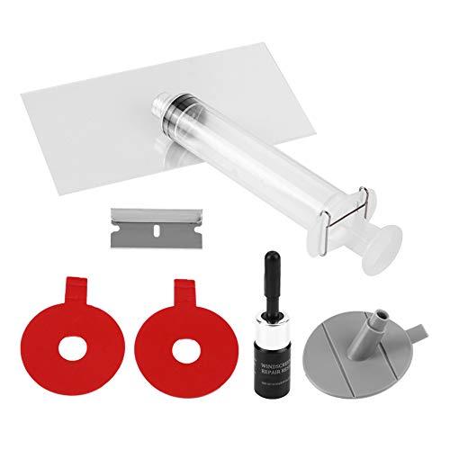 Akozon Auto Windschutzscheibe Repair Tools Kit, Autoglas DIY Tools Reparatursatz Auto Glas Reparatur Set DIY Smart Repair für Risse Kratzer Chips (Auto-kratzer-kit)