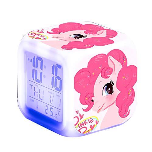 Unicornio Relojes de alarma digitales para niñas, LED de noche Reloj LCD con luz para niños Despertar Reloj de cabecera Regalos de cumpleaños para niños Mujeres Adultos Dormitorio (unicorn 7)