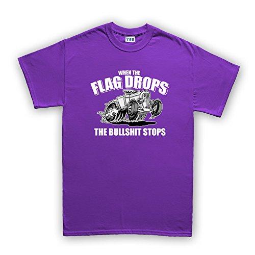 When The Flag Drops Hot Rod T-Shirt Violett