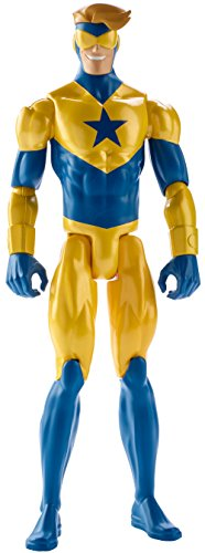 Mattel FFF13 - Justice League Action - Personaggio Base 30 Cm - Booster Gold (1 Accessorie)
