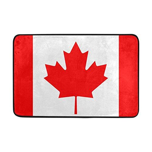 jstel Kanada Flagge Muster-Fußmatte waschbar Garten Büro Fußmatte, Küche ESS-Living Badezimmer Pet Eintrag Teppiche mit Rutschfeste Unterseite (Kanada Flagge Kissen)