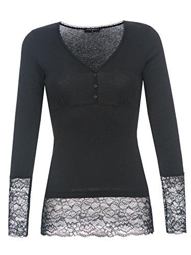 Vive Maria Romantic Basicshirt schwarz , Größe:M