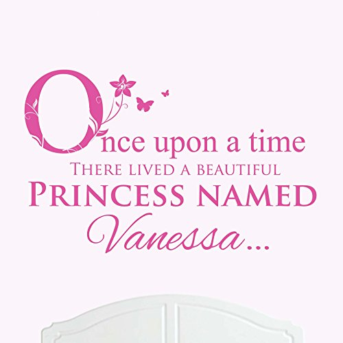 A Beautiful Princess-Abito Vanessa onore, misura grande, motivo: Once Upon a Time-Adesivo decalcomania da parete, per camere da letto, Baby Girl