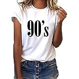 Damen Mode GroßE GrößE 90er Jahre Drucken T-Shirt BeiläUfige Lose Kurze HüLse Schick TäGliches T-Shirt Rundhals Tunika