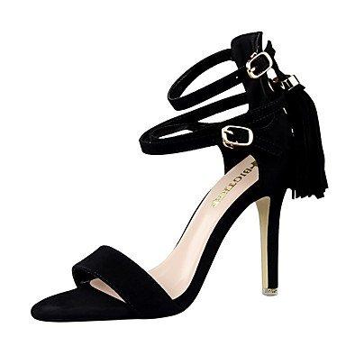 LvYuan-ggx Da donna Tacchi PU (Poliuretano) Estate A stiletto Nero Rosso Rosa 7,5 - 9,5 cm Black