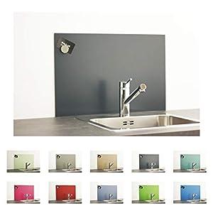 PAULUS Spritzschutz Küche Herd Wand Küchenrückwand magnetisch 60x40cm anthrazit, RAL 7016 anthrazit